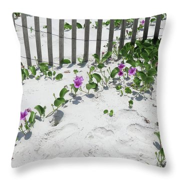 Coastal Flowers Throw Pillow
