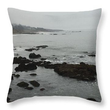 Coastal Fog Throw Pillow by Russell Keating