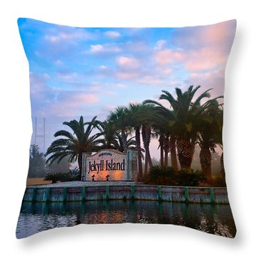 Coastal Georgia Gem Throw Pillow