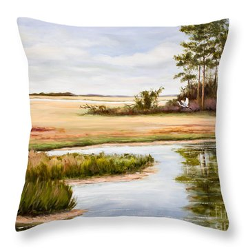 Coastal Harmony Throw Pillow