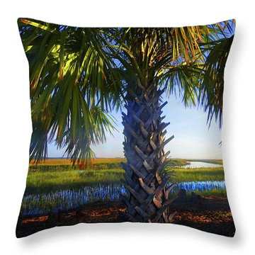 Coastal High Tide  Throw Pillow