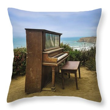 Throw Pillow featuring the photograph Coastal Keys by Geoffrey C Lewis