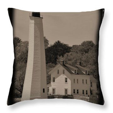 Coastal Lighthouse 2 Throw Pillow