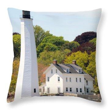 Coastal Lighthouse-c Throw Pillow
