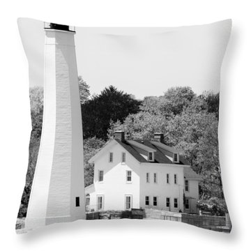 Coastal Lighthouse Throw Pillow