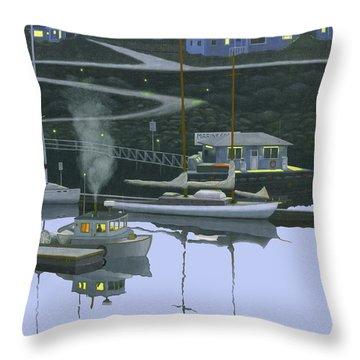 Coastal Morning Throw Pillow