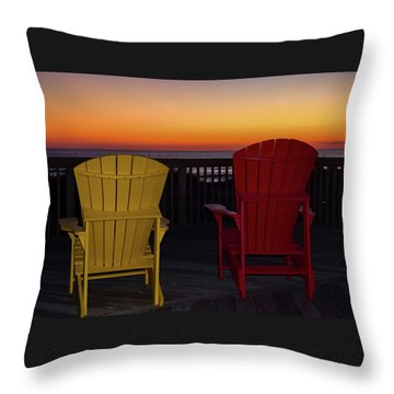 Coastal Mornings Throw Pillow