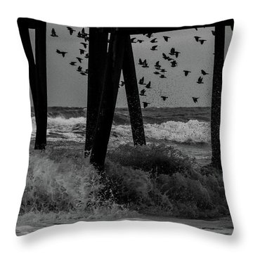 Coastal Movements Throw Pillow