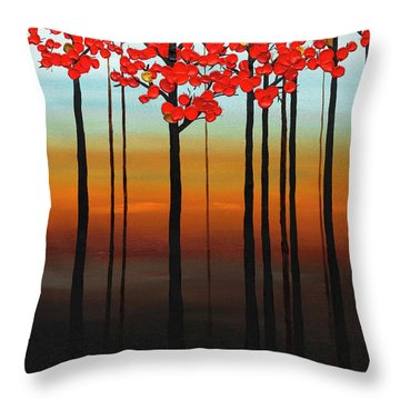 Throw Pillow featuring the painting Coastal Radiance by Carmen Guedez