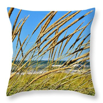 Coastal Relaxation Throw Pillow