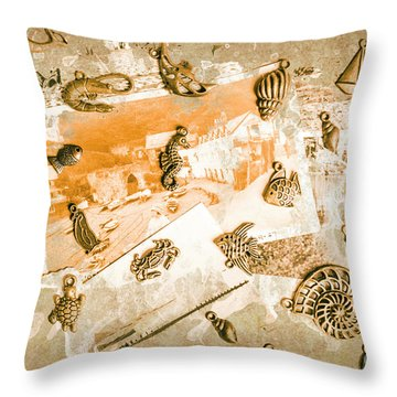Coastal Romantics Throw Pillow