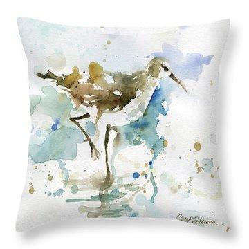Coastal Sandpiper 1 Throw Pillow