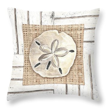 Coastal Shells 1 Throw Pillow