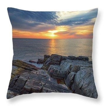 Coastal Sunrise On The Cliffs Throw Pillow