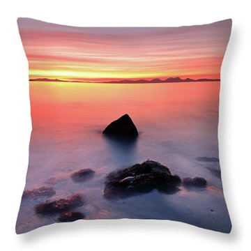 Throw Pillow featuring the photograph Coastal Sunset Kintyre by Grant Glendinning
