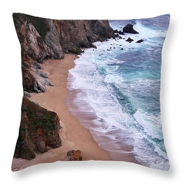 Coastal View At Big Sur Throw Pillow