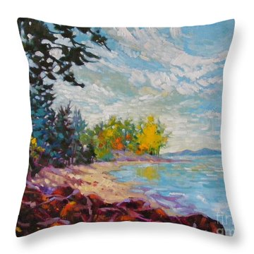Coastal View Throw Pillow