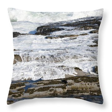 Coastal Washout Throw Pillow