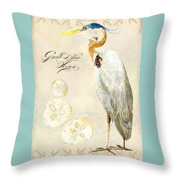 Coastal Waterways - Great Blue Heron Throw Pillow