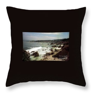 Coastal Waves And Rocks Throw Pillow