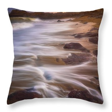 Throw Pillow featuring the photograph Coastal Whispers by Darren White