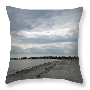 Throw Pillow featuring the photograph Coastal Winter by Kristine Nora