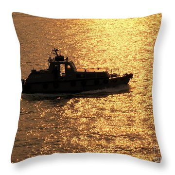 Coastguard Vessel Throw Pillow by Yali Shi