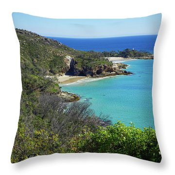 Coastline Views On Moreton Island Throw Pillow