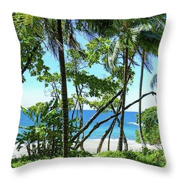 Coata Rica Beach 1 Throw Pillow