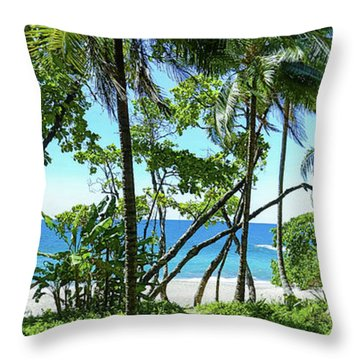 Coata Rica Beach 1 Throw Pillow