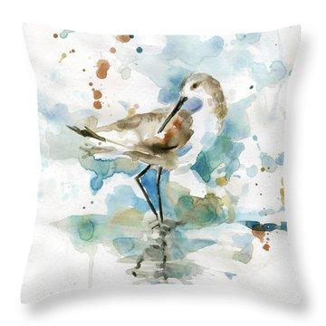 Coatal Sandpiper 2 Throw Pillow