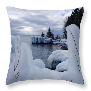 Coated With Ice Throw Pillow