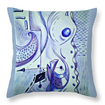 Cobalt Awakening  Throw Pillow