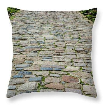 Cobbled Causeway Throw Pillow