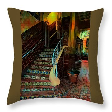 Cobblestone And Tile Throw Pillow