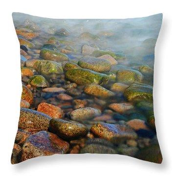 Cobblestone Beach Throw Pillow