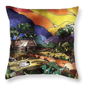 The Shepherd's Cottage Throw Pillow