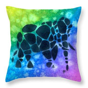 Cobblestone Elephant 1 Throw Pillow