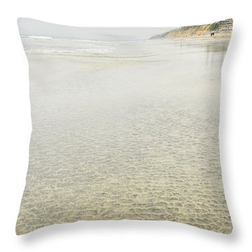 Cobblestones At Lowtide Throw Pillow
