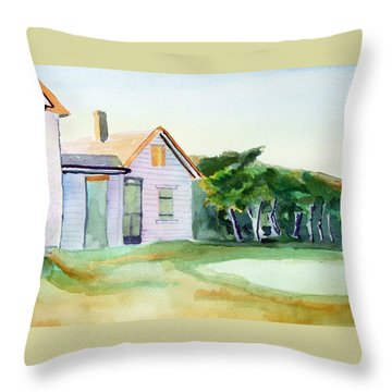 Cobb's House After Edward Hopper Throw Pillow