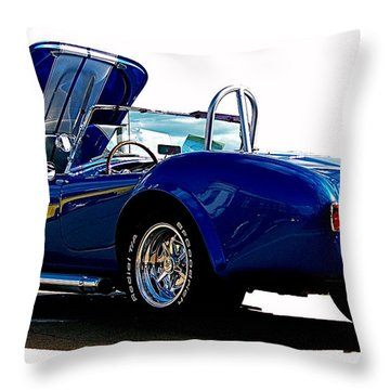 Cobra 427 Throw Pillow by Sue Stefanowicz