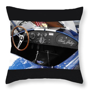 Cobra Dshboard Throw Pillow