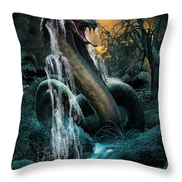Cobra Falls Throw Pillow