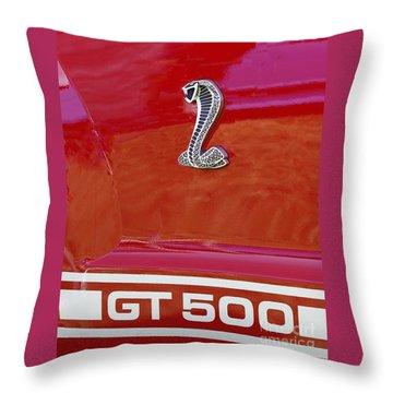 Cobra Gt 500 Emblem Throw Pillow