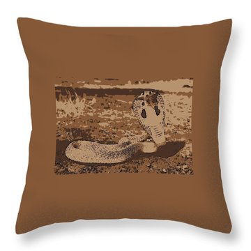 Cobra Love Throw Pillow
