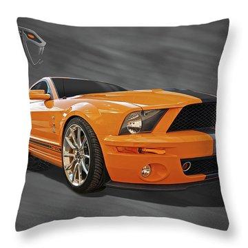 Cobra Power - Shelby Gt500 Mustang Throw Pillow