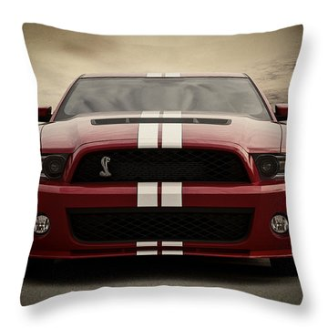 Cobra Red Throw Pillow