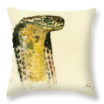 Cobra Snake Poster Throw Pillow