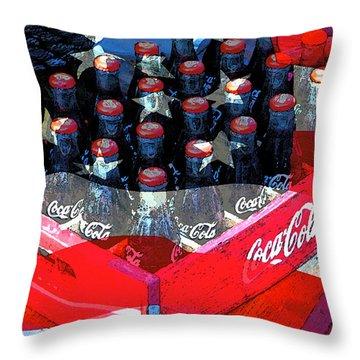 Coca Cola Americana Throw Pillow