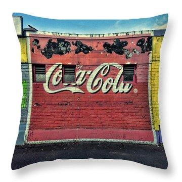 Coca-cola Building Throw Pillow